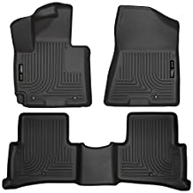 Husky Liners 99681 Weatherbeater Series Custom Fit Front and Second Seat Floor Liner - (Black)
