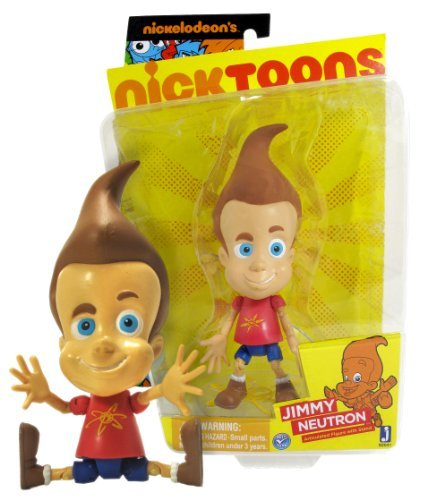 "Jimmy Neutron ~6"" Articulated Action Figure w/ Stand: Nicktoons 'The Adventures of Jimmy Neutron: Boy Genius' Figure Series"