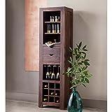 Sheesham Wood Wine Cabinet - 20w x 14deep x 70.75h