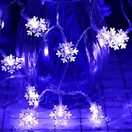 LoiStu 16ft / 40LED Christmas Snowflake String Light String Christmas Party Party Decorative Light String Outdoor Waterproof House Decorative Light String Interior Decoration