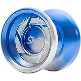 Shutter Fade Yoyo Color Blue Silver in Hard Plastic Case by YoYoFactory