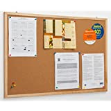 displays2go cork pin boards x x 34 inches natural finish wood frame bulletin displays svwcb6090