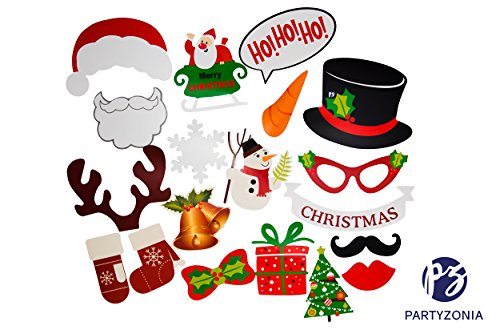 Christmas Photo Booth Props KIT by Partyzonia (19