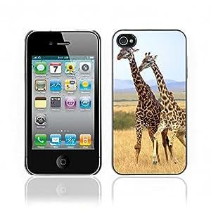 Kellie-Diy Hot Style cell phone PC case cover // Giraffe iPhone 4 NhURVDcFZIU 4S