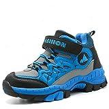 LSGEGO Kids Hiking Shoes Waterproof Boys Trekking Shoes Junior Kids Boots Climbing Boots Girls Breathable Anti-Slip Walking Flat Boots 31-40