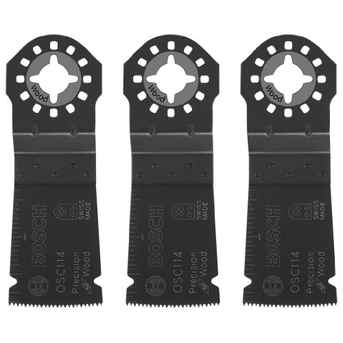 Bosch OSC114-3 1-1/4Inch x 1-5/8Inch Multi-Tool HCS Precision Plunge Cut Blades-Pack of 3 by Bosch (Image #1)