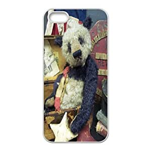 IPhone 5,5S Case Tattered Teddy with Vintage Flag, Iphone 5s Cases for Teen Girls - [White] Jumphigh by ruishername