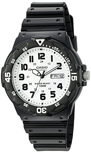 - Casio Men's 'Classic' Quartz Resin Watch, Color:Black (Model: MRW200H-7BV)