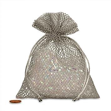Amazon.com: Gris Diamante Bolsas de malla 5
