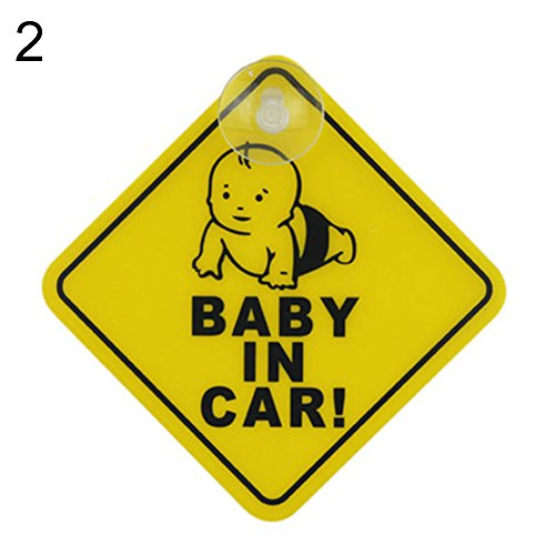 ZBmiluddeer Baby on Board Car Warning Safety Suction Cup Sticker Waterproof Notice Board XP02 from ZBmiluddeer