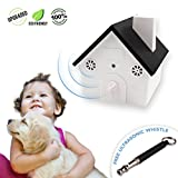 Upgraded Value Pack, Safe Ultrasonic Anti-Barking Dog Device with Sonic Whistle, Outdoor Bark Controller, Humane Sonic Bark Deterrent to Stop Barking, No Collar Hanging Birdhouse Design Training Dogs