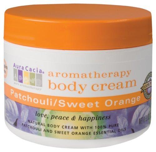 Aura Cacia Patchouli Crème pour le corps et l'orange douce - 8 oz
