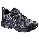 Salomon Women's X Ultra Prime CS Waterproof W Hiking Shoe, Pearl Grey/Deep Blue/Rain Purple, 10 B US