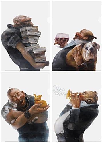 【蔡國華 Cai guo-hua 絵画「Humor in life」シリーズ4点セット】アートクリアファイル A4サイズ【アートスペース画空間】