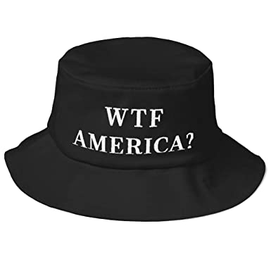 06c9708148e WTF America  Bucket Hat (Embroidered Old School Bucket Hat) Post 2016  Election Anti