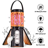 Mosquito Killer Lamp Bug Zapper UV Insect Trap LED Camping Lantern Tent Light USB Rechargeable IP67 Waterproof Insect Killer for Outdoor