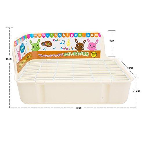 ZoeZ Square Potty Trainer Corner Litter Bedding Box Pet Pan for Small Animal/rabbit/guinea Pig/galesaur/ferret by ZoeZ (Image #4)