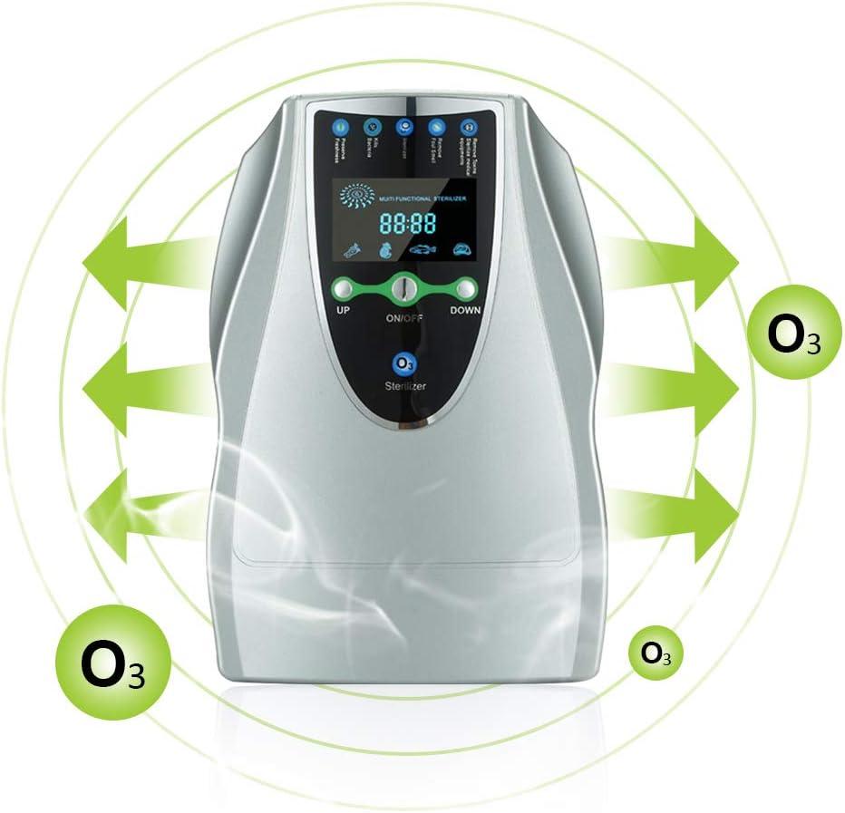 Generador de ozono, Purificador de Aire doméstico, Máquina de ozono portátil multipropósito de 500 MG/h con 6 temporizadores para Cocina, Dormitorio, Sala de Estar, baño y Oficina (500 MG/h)