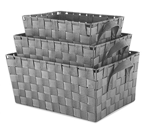 gray baskets for storage - 5