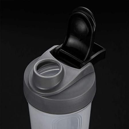 Aofocy Sports Botellas coctelera Botellas Botella Mixer Nutrition – Coctelera Polvo de proteína Copa Large Piel sintética D Efectos y, fácil de ...