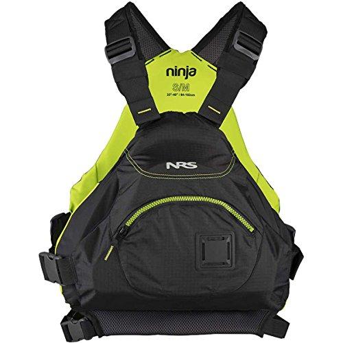 NRS Ninja Adult Large XLarge PFD Type III Boating Kayak Life Jacket Vest, Black
