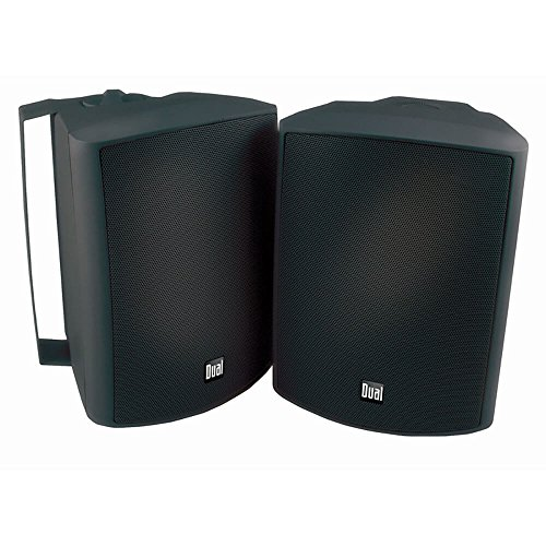 Price comparison product image Dual Electronics LU53PB 3-Way High Performance Outdoor Indoor Speakers with Powerful Bass / Effortless Mounting Swivel Brackets / All Weather Resistance / Expansive Stereo Sound Coverage / Sold in Pairs