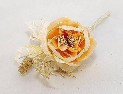 Decorazioni Natalizie Con Foglie Di Magnolia.12 Pick Di Magnolia Con Pigna E Foglia Glitterate Crema Amazon It