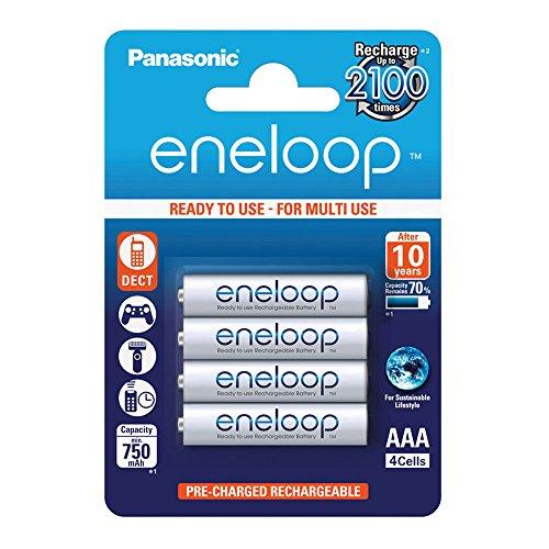 - 1x4 Panasonic Eneloop Micro AAA 750 mAh