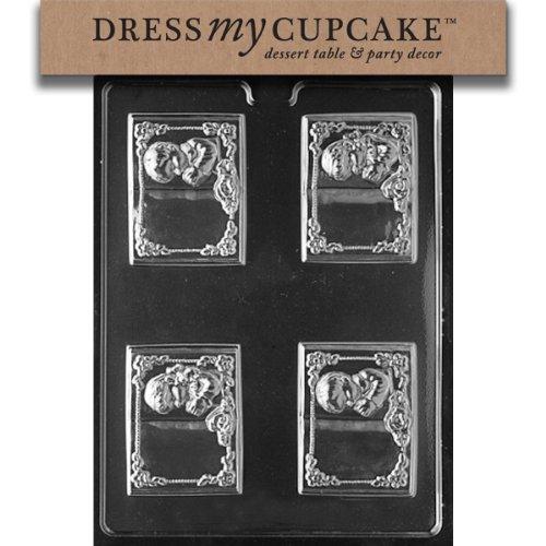 Dress My Cupcake DMCR062 Chocolate Candy Mold, Communion Boy and Girl Book]()