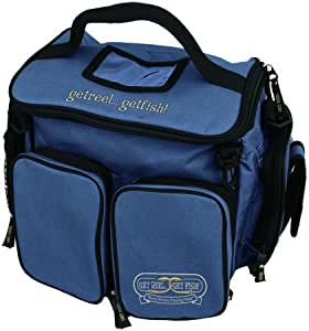 Fishing tackle bag with 6 lure trays blue for Amazon fishing gear