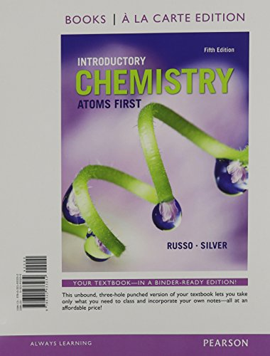 Introductory Chemistry: Atoms First, Books a la Carte Plus Mastering Chemistry with eText -- Access Card Package (5th Edition)