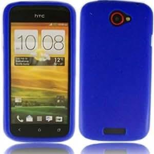 Silicona Caso Cubrir Concha Para HTC One S / Blue