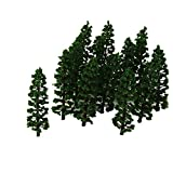 20PCS Plastic Fir Tree Model Train Scenery Landscape HO 1:100