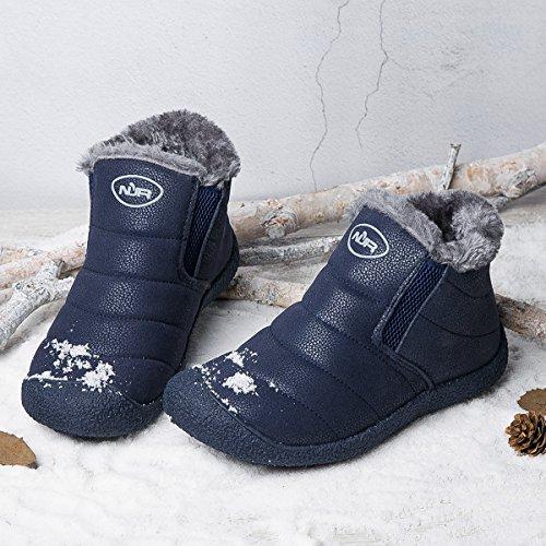 Zapatos Fur Invierno Tobillo Nieve Aire Botines Boots Botines Mujer Boots Botas Impermeables Forradas Azul Libre de Planas Zapatos Gracosy Cortas Cortas Calientes qv6aOw