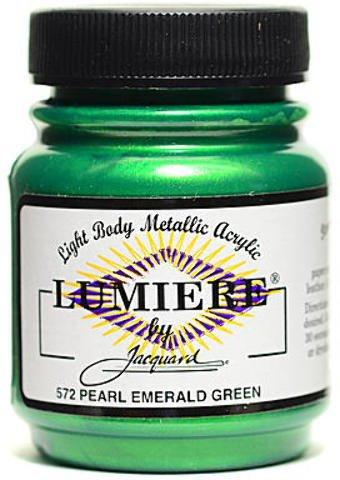 Jacquard Lumiere Artist Acrylics (Pearl Emerald Green) 2 pcs sku# 1826151MA (Pearl Paints Lumiere Jacquard)