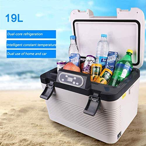 Compact Cooler Mini Fridge for Cars, Road Trips, Homes, Offices and Dorms -19L dual-core car refrigerator car dual-use small refrigerator
