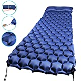 SUPALAK Sleeping Pad, Ultralight Inflatable Sleep Pads for Camping Backpacking with Pillow Compact Air Mat Portable Lightweight Mattress for Hiking Hunting Traveling Fishing Biking