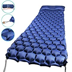 What does this Inflatable Sleeping Pad do for you? -- Get the best night of sleep ANYWHERE! No more sore back or annoying discomfort from every little rocks or leafs underneath,Wake-up Refreshed and Pain-Free. --Engineered to limit air flow t...