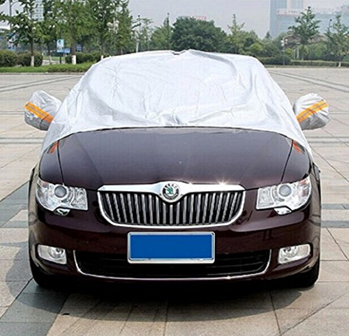 [Sunshade Car Snow Large Shield Cover Auto Front Windscreen Rain Frost Windshield Car Cover Dust with Hook Up Cover with mirrors] (Dollar Jumbo Glasses)