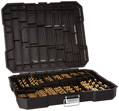 230 Pieces Titanium Drill Bit Set, High Speed Steel, for Wood,Metal,Aluminum Alloy ()
