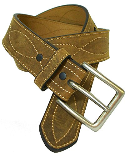 G-D Men's Crazy Horse Leather Figure 8 Belt Crazyhorse 46