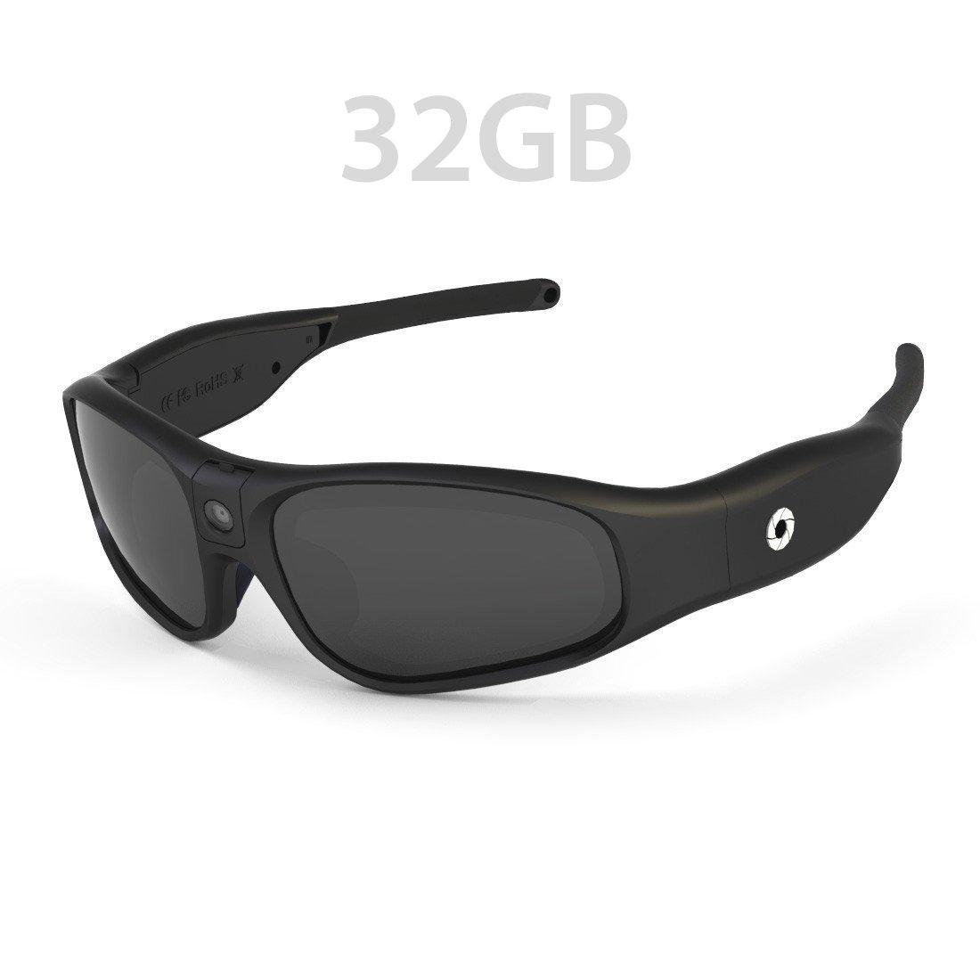52f408005e Amazon.com   iVUE Rincon 1080P HD Camera Glasses Video Recording Sport  Sunglasses DVR Eyewear (Tilt Lens