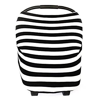 Baby Car Seat Cover Nursing Cover Breathable Stretchy Canopy High chair cover Shopping cart cover Multifunction cover 4 in 1 Car Seat Cover for Girls and Boys