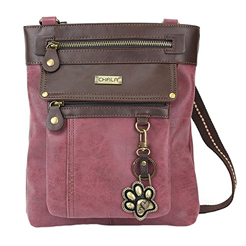 Lovers Burgundy 3 Gift 1 Handbag Gemini Print in Dog Chala Crossbody Paw 4FzxTqnwS