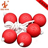 VORCOOL 3 Pair Practice Balls Perforated Plastic Playing Balls Golf Practice Training Sports String Balls (42MM White)