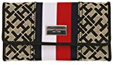 Tommy Hilfiger Women's Continental Wallet Black/Ivory