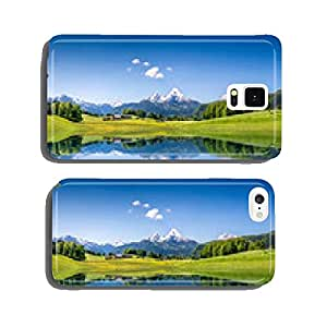 Idyllic summer landscape with mountain lake and Alps cell phone cover case iPhone6