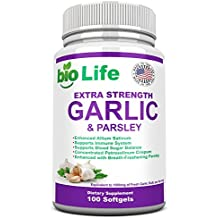 Garlic - Softgels - 1000mg Pure And Potent Garlic Allium Sativum Supplement And Parsley. Garlic Pills