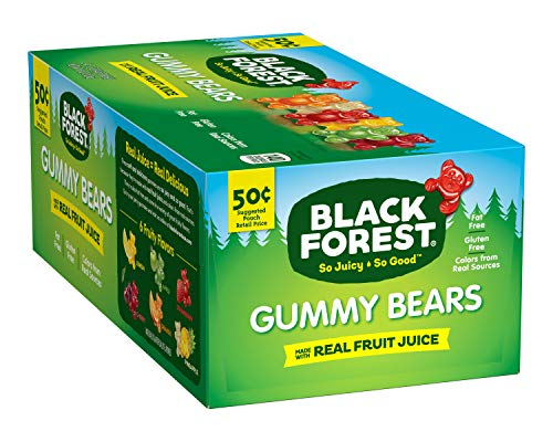 Black Forest Gummy Bears Candy, 1.5-Ounce Bag (Pack