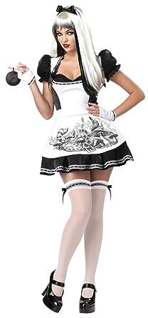 California Costumes Dark Alice Adult Costume, Black/White, Medium
